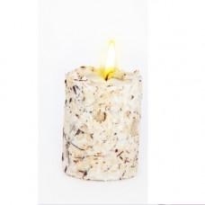 Свеча-эко ручной работы   RAFAELLO  со стружкой мякоти кокоса и ванилью, круглая TM Aromatte