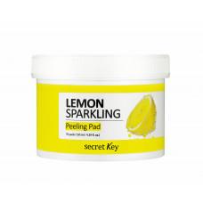 Пилинг-диски для лица Лимон   Lemon sparkling peeling pad   Secret Key